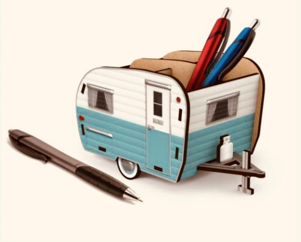 Vintage Camper pencil holder