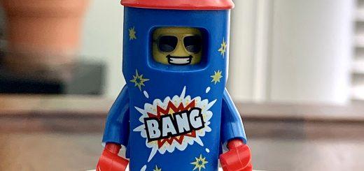 Lego minifigure Bang rocket guy
