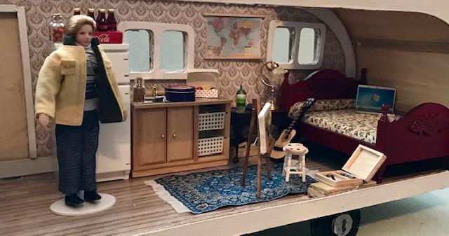 Scott in his camper