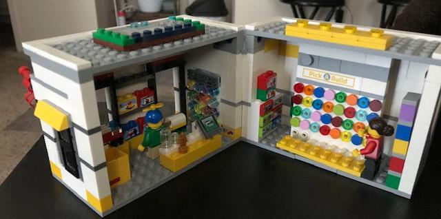 Upper floor of hacked lego store
