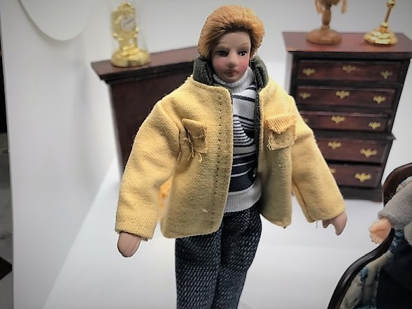 Male doll standing