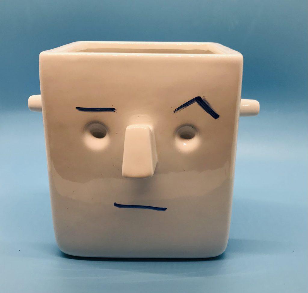 Face planter with raised eyebrow