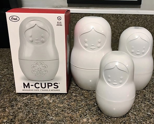 Nesting dolls that are also measuring cups