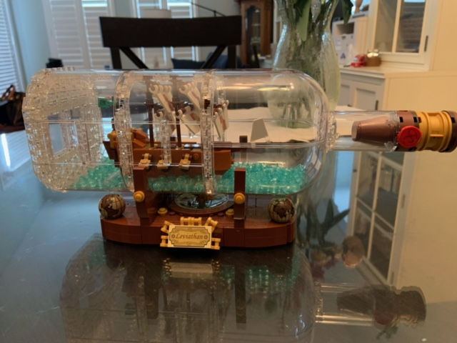 Lego Leviathan ship in a bottle