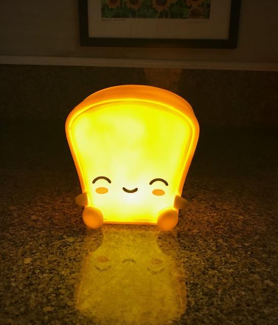 Toast light lit up